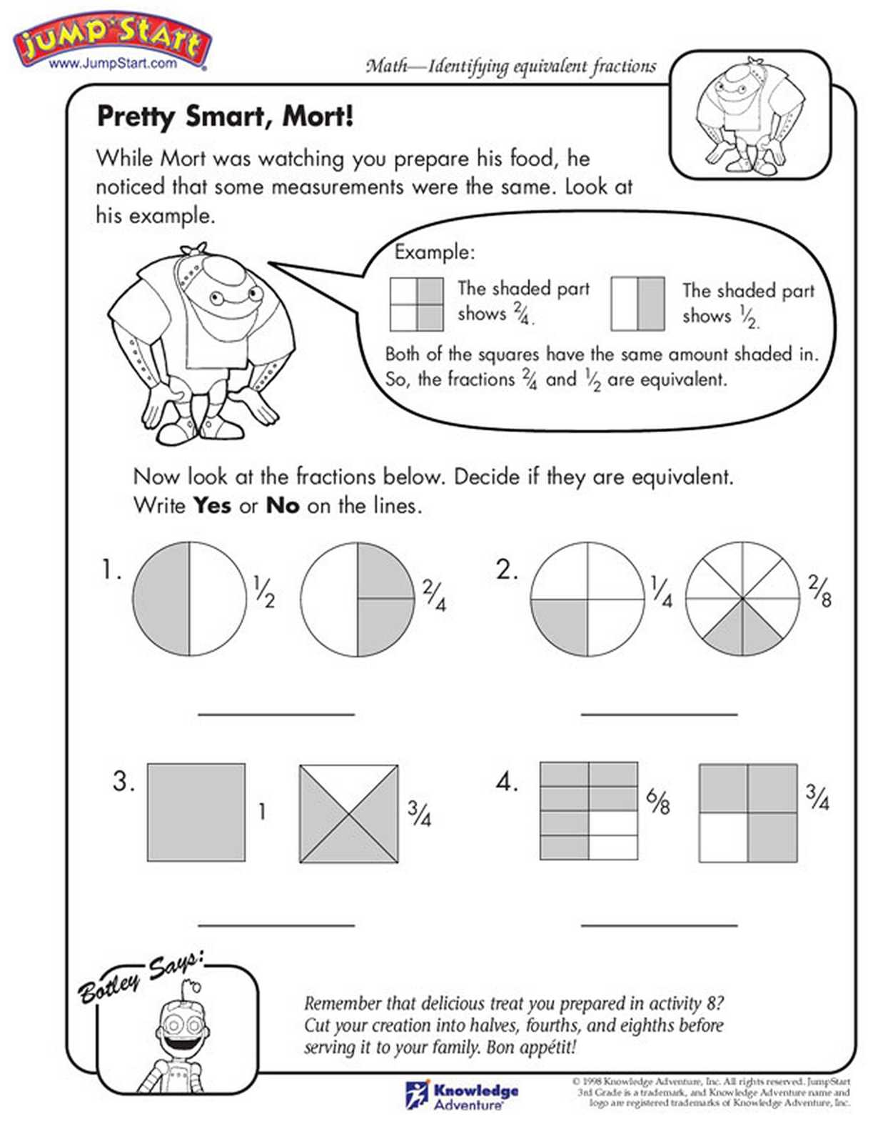 Math assessment Worksheets together with Grasp the Concept Of Fractions Printable Math Sheets