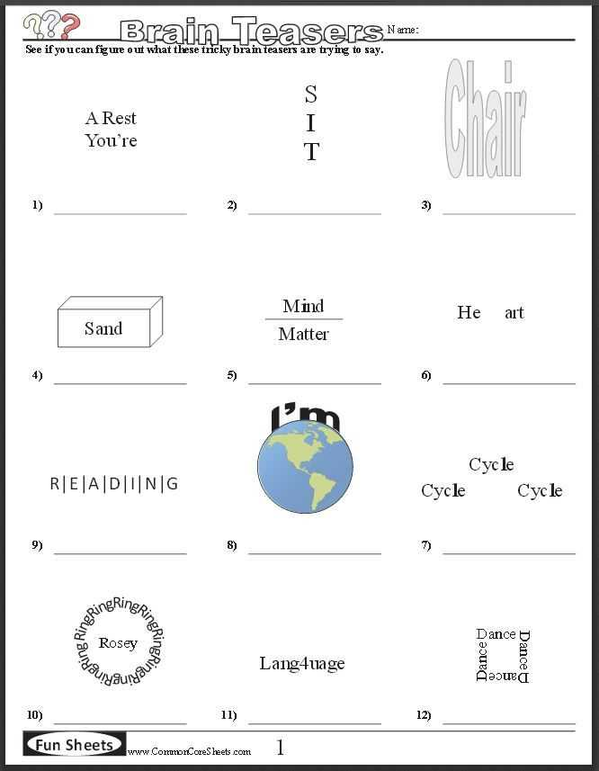 Math Brain Teasers Worksheets Also 115 Best Brain Teasers Images On Pinterest