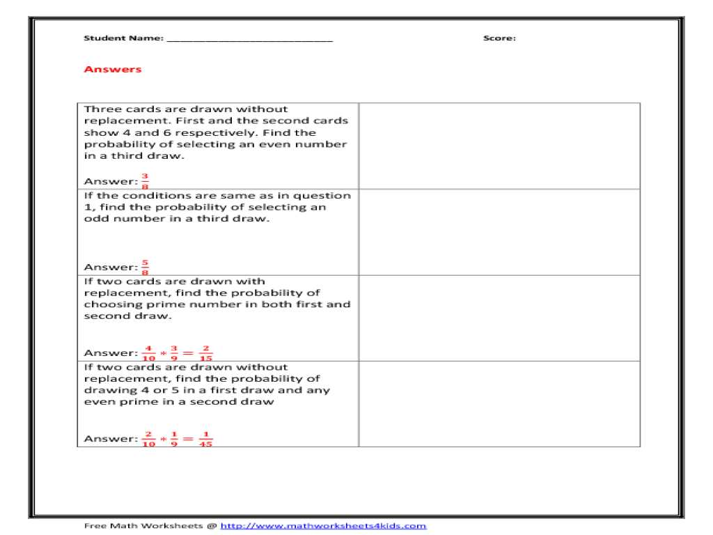 Medicare Coverage Analysis Worksheet Also 28 Free Downloadable Dependent Probability Worksheet 8th Gr