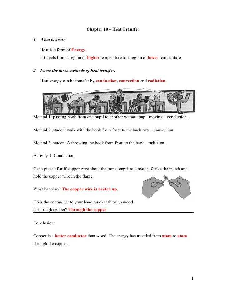 Methods Of Heat Transfer Worksheet Answers Also Heat Transfer Worksheet Cadrecorner