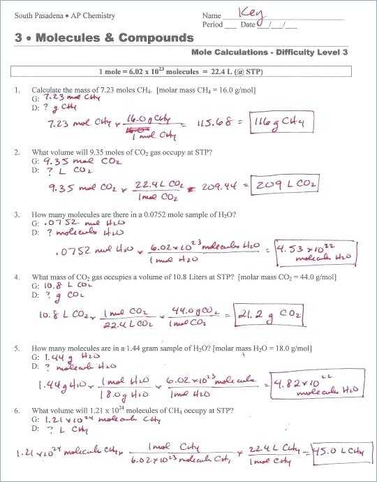 Mole Mass and Particle Conversion Worksheet Also Chemistry Worksheets Chemistry Worksheets for Grade 9 Cbse Bbs