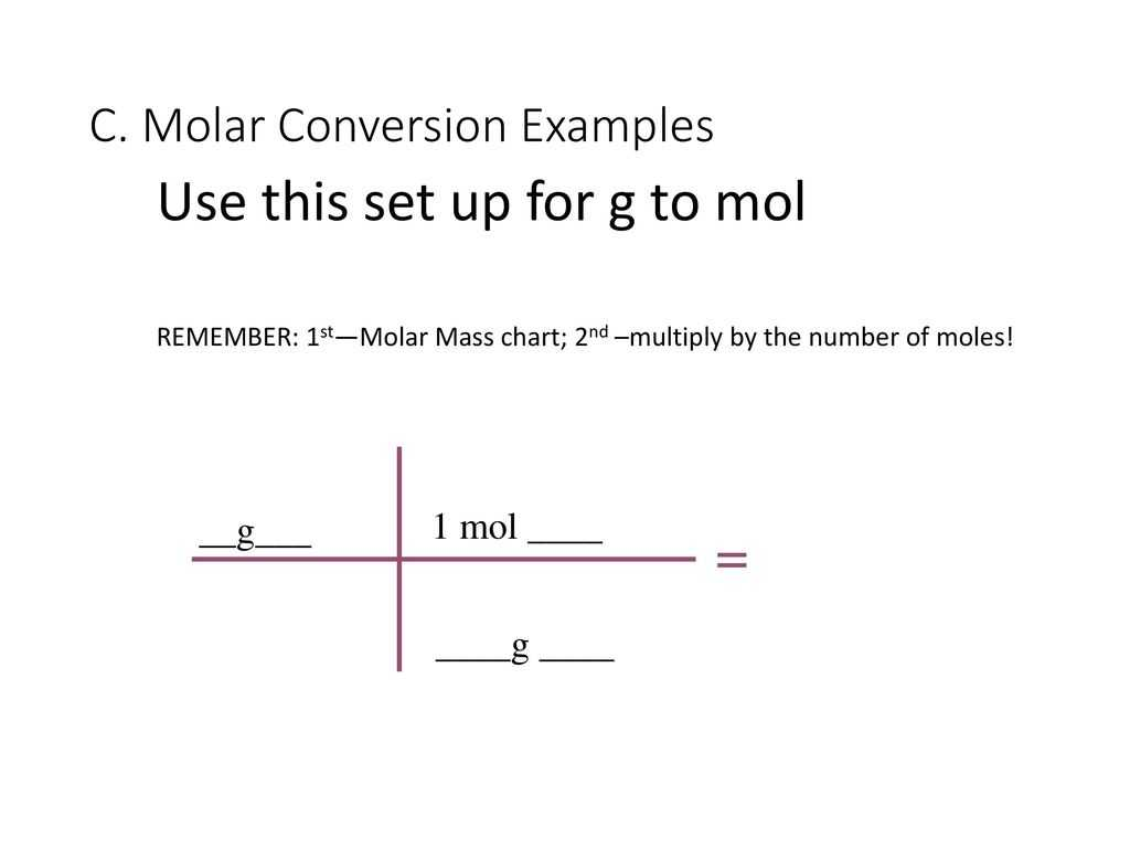 Mole To Grams Grams To Moles Conversions Worksheet Answers