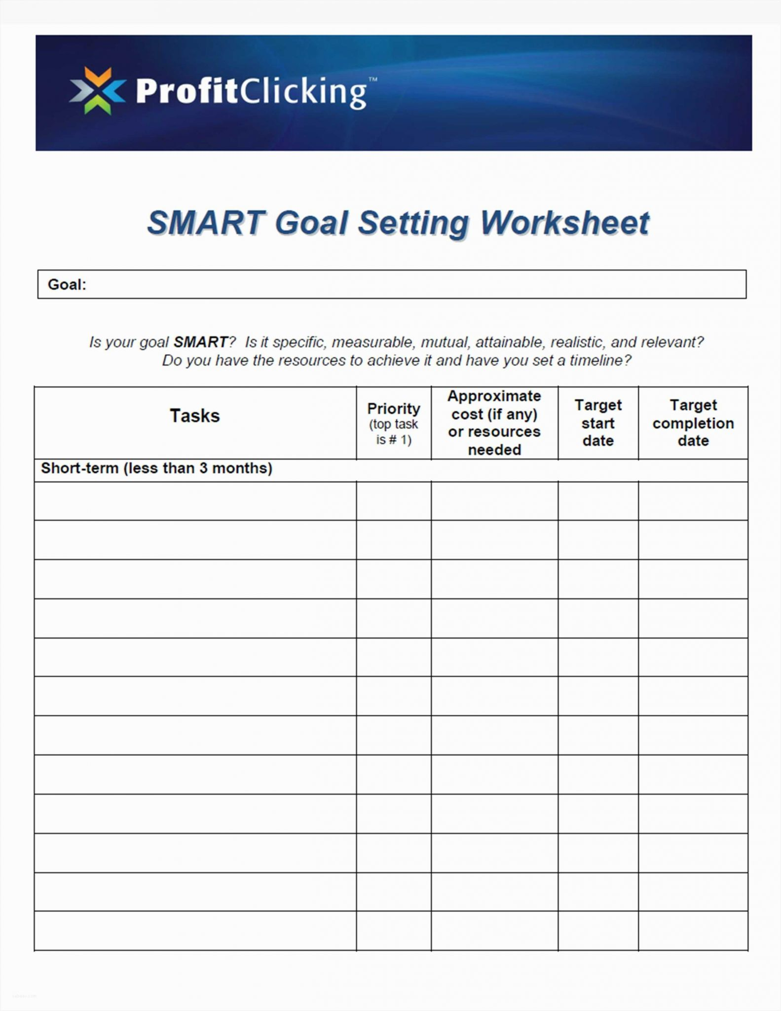 New Year Goal Setting Worksheet together with Awesome Promotion Point Worksheet – Sabaax