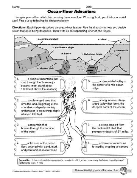 Ocean Current Worksheet Answer Key and This Worksheet is Great for Teaching Students About Various Features
