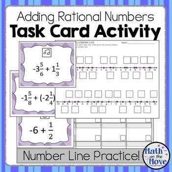 Ordering for Rational Numbers Independent Practice Worksheet Answers Also Positive and Negative Mixed Numbers Teaching Resources