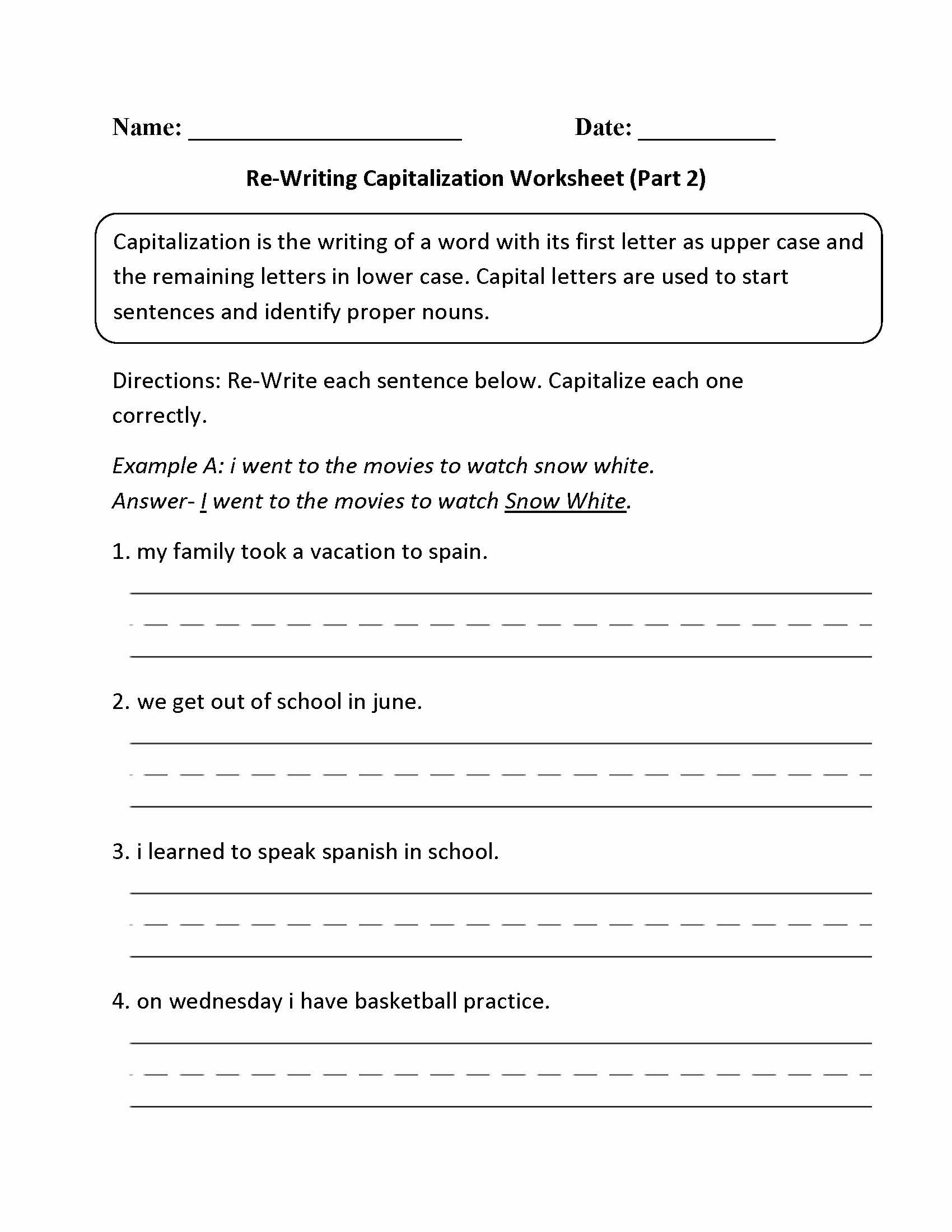 Paragraph Correction Worksheets Pdf Also 15 Lovely Worksheet 4th Grade