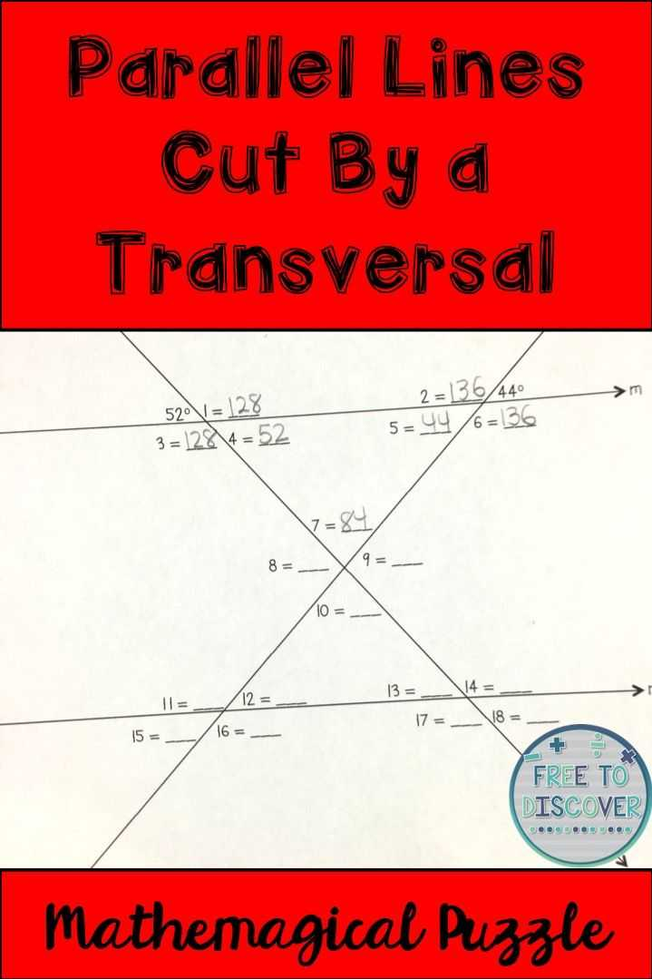 Parallel Lines Cut by A Transversal Worksheet Answer Key together with Inspirational Parallel Lines Cut by A Transversal Worksheet Best