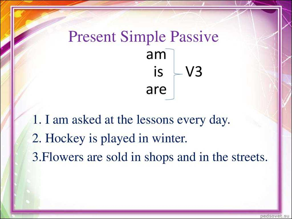 Passive Voice Worksheets with the Passive Voice