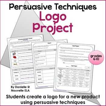 Persuasive Techniques Worksheets as Well as Persuasive Techniques Logo Project W Rubric Ad Project