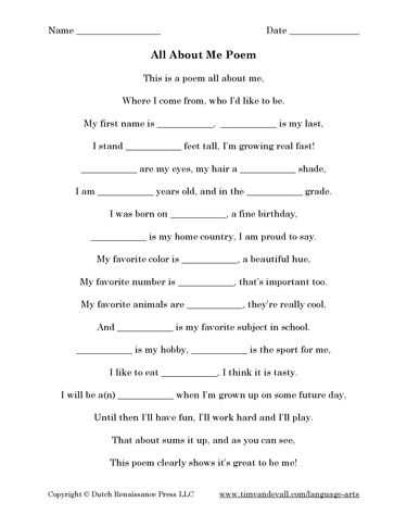 Poetry Worksheets Printable as Well as 54 Best Language Arts Printables Images On Pinterest