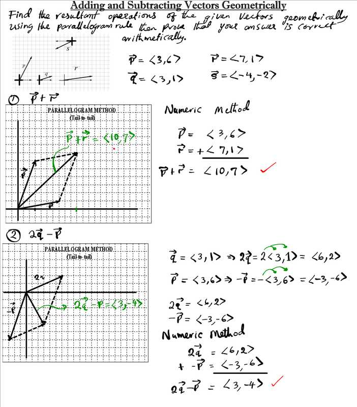 Precalculus Worksheets with Answers Pdf and Worksheet Vectors Pdf Kidz Activities