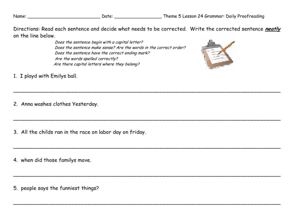 Printable Worksheets for Drivers Education or Math Editing Writing Worksheets Proofreading Sentences Wor
