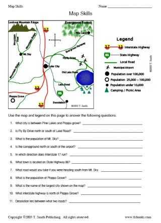 Reading A Map Worksheet Pdf together with Map and Globe Skills Worksheets Kidz Activities