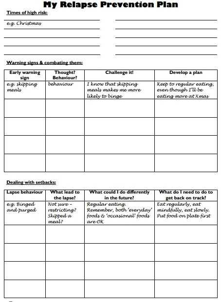 Relapse Prevention Worksheets with 19 Best Relapse Prevention Images On Pinterest