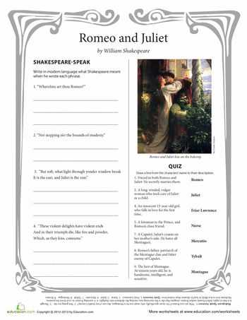 Romeo and Juliet the Prologue Worksheet with 120 Best Romeo and Juliet Etlobest Images On Pinterest