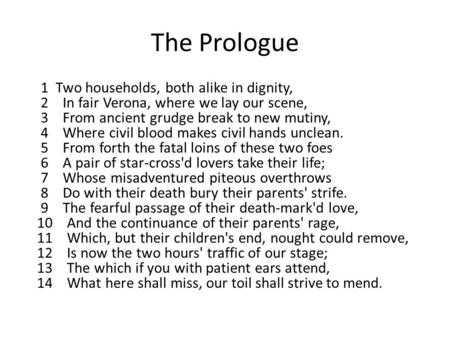Romeo and Juliet the Prologue Worksheet with Final Review Mla formatting Mla=modern Language association Skip