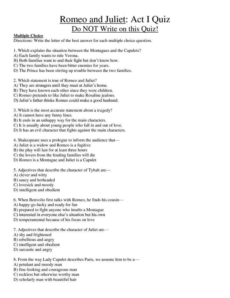Romeo and Juliet Worksheets Act 1 Along with Romeo and Juliet All Study Guide Questions and Answers 2 Essay Essay