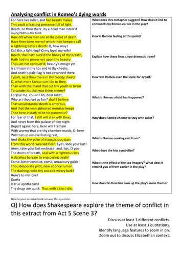 Romeo and Juliet Worksheets Act 1 Along with Romeo and Juliet Aqa 1 9 30 Premium Worksheets by