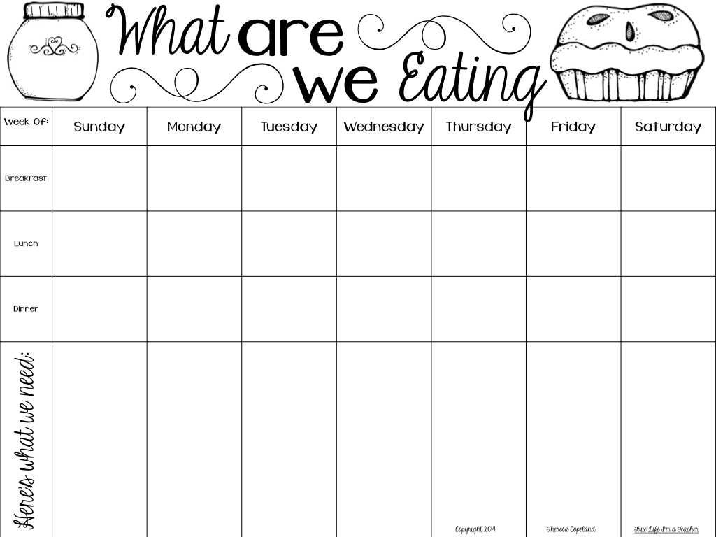Sales Pre Call Planning Worksheet with Monthly Meal Chart Template