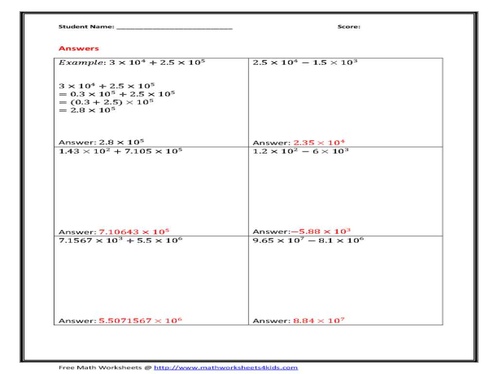 Scientific Method Worksheet Also Kindergarten Scientific Notation Division Worksheet