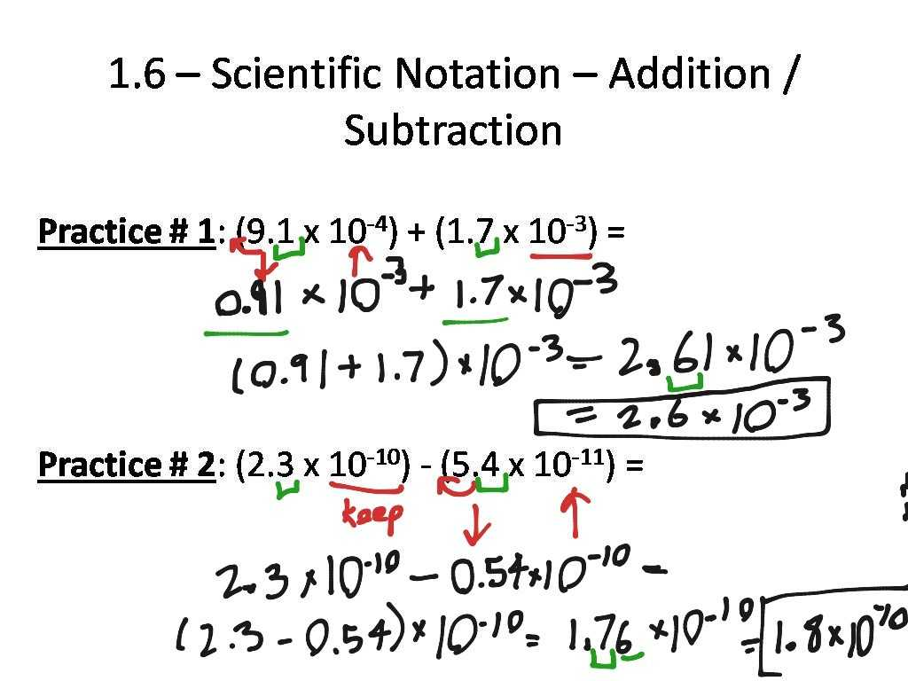 Scientific Notation Worksheet Answers Also Kindergarten Showme Addition and Subtraction with Scientific