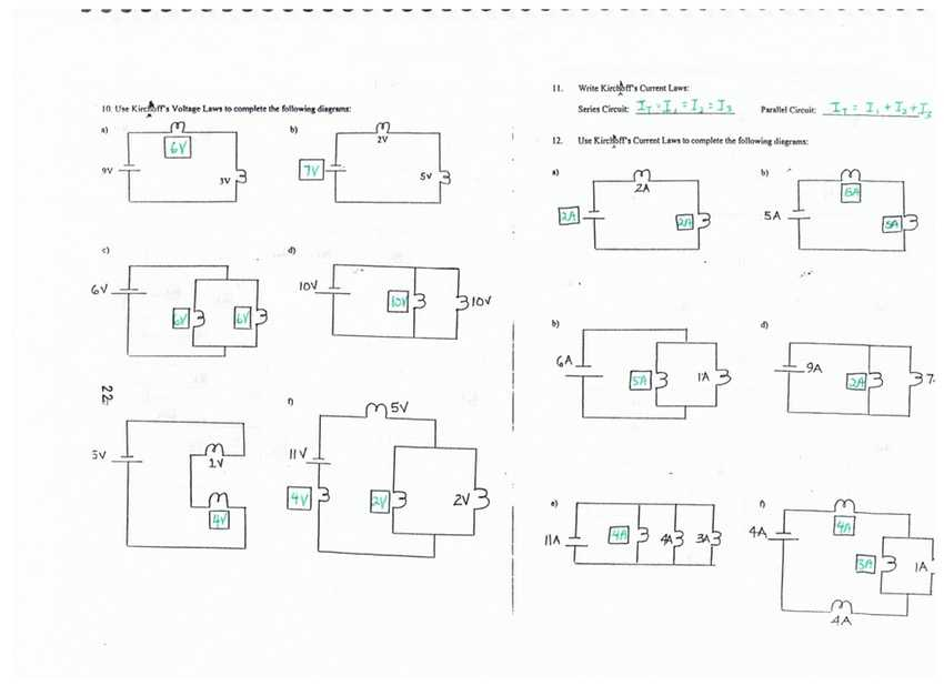 Series and Parallel Circuits Worksheet with Answers Along with Ponent Series Parallel Circuit Definition and Voltage for Kids