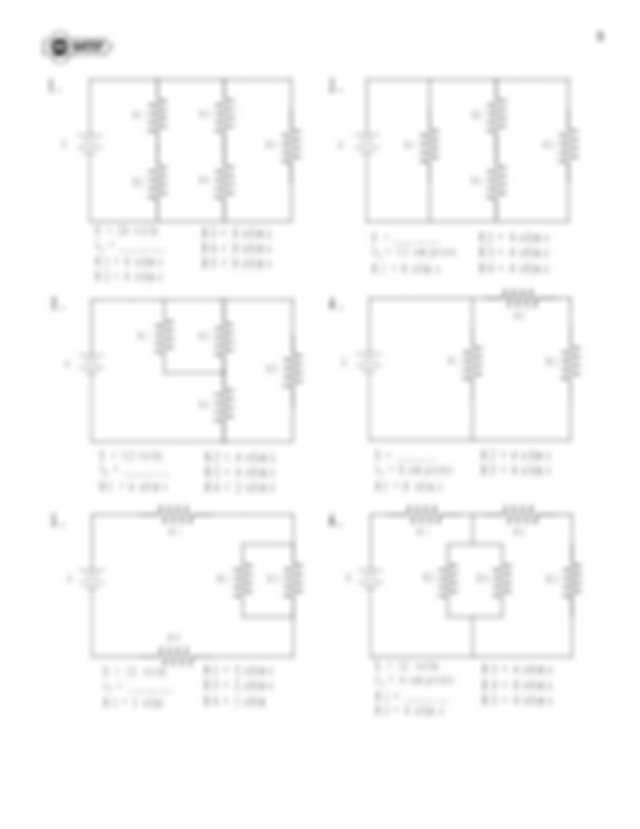 Series and Parallel Circuits Worksheet with Answers together with Series and Parallel Circuits Worksheet Inspirational Ponent Series