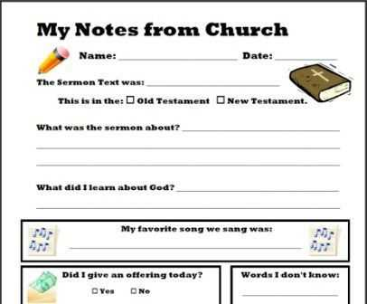 Sermon Preparation Worksheet with 19 Best Kids Sermon Notes Images On Pinterest