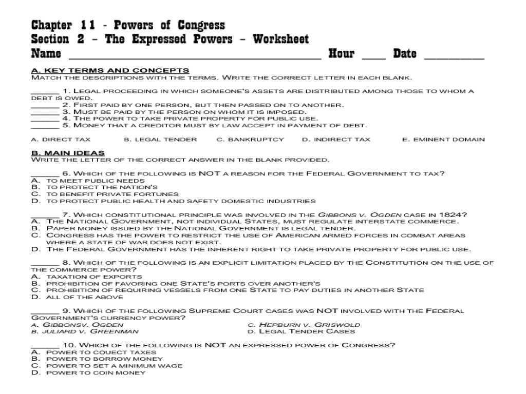 Seven Principles Of the Constitution Worksheet Answers and Marbury V Madison 1803 Worksheet Answers Gallery Worksheet