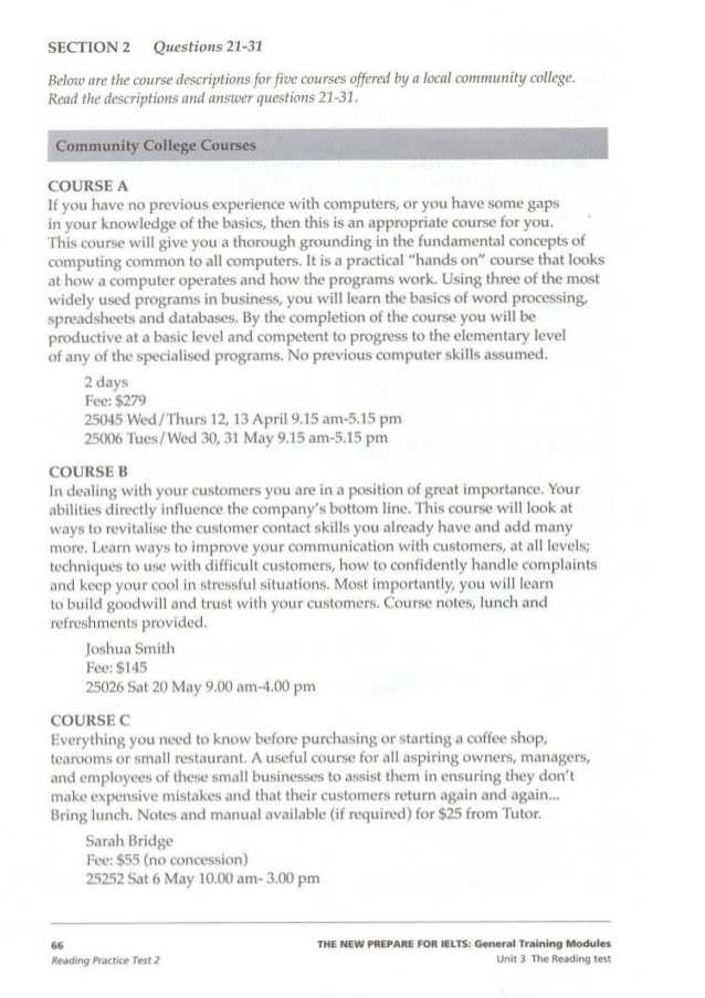 Skills Worksheet Active Reading Answer Key Also Insearch Of Ielts General Training