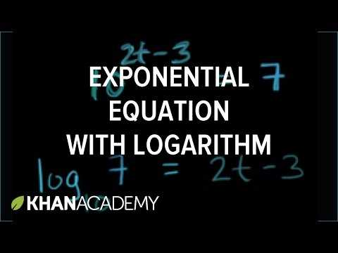Solving Exponential and Logarithmic Equations Worksheet Also solving Exponential Equations Using Logarithms Base 10 Video