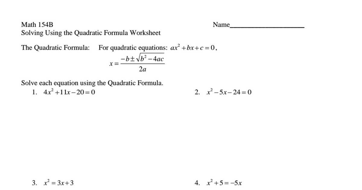 Solving Using the Quadratic formula Worksheet Answer Key Along with Unique solving Quadratic Equations by Factoring Worksheet Elegant