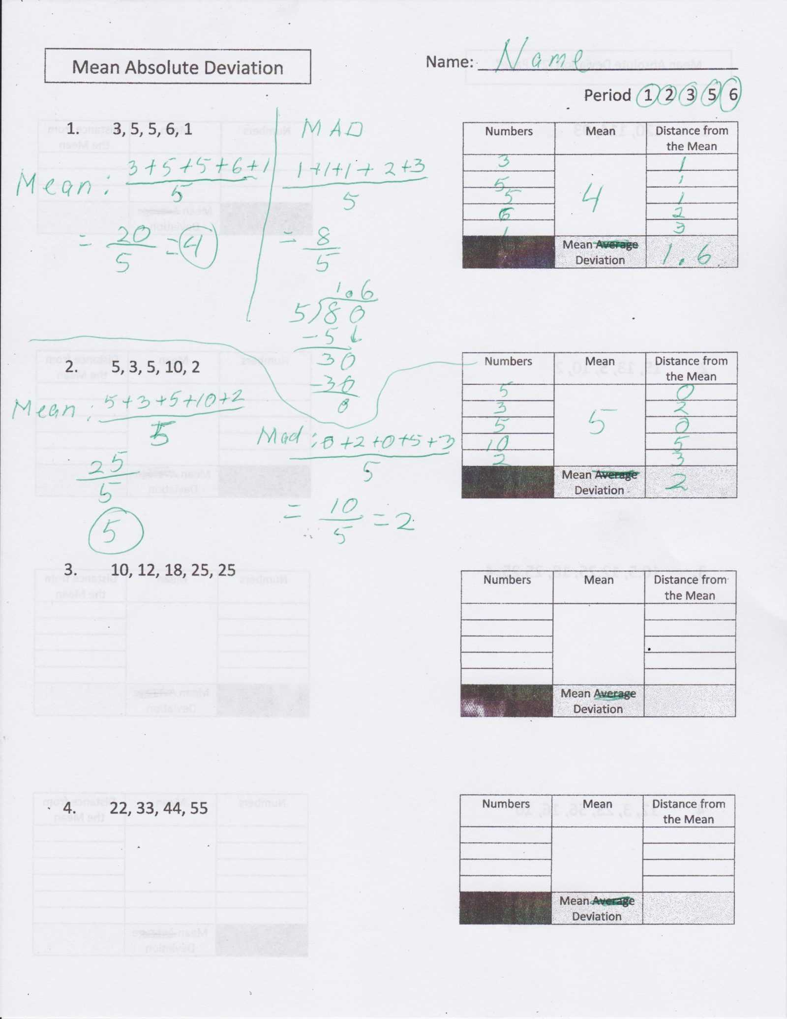 Standard Deviation Worksheet with Answers together with Math Worksheets Globalized Dynamic Information Technology Rd