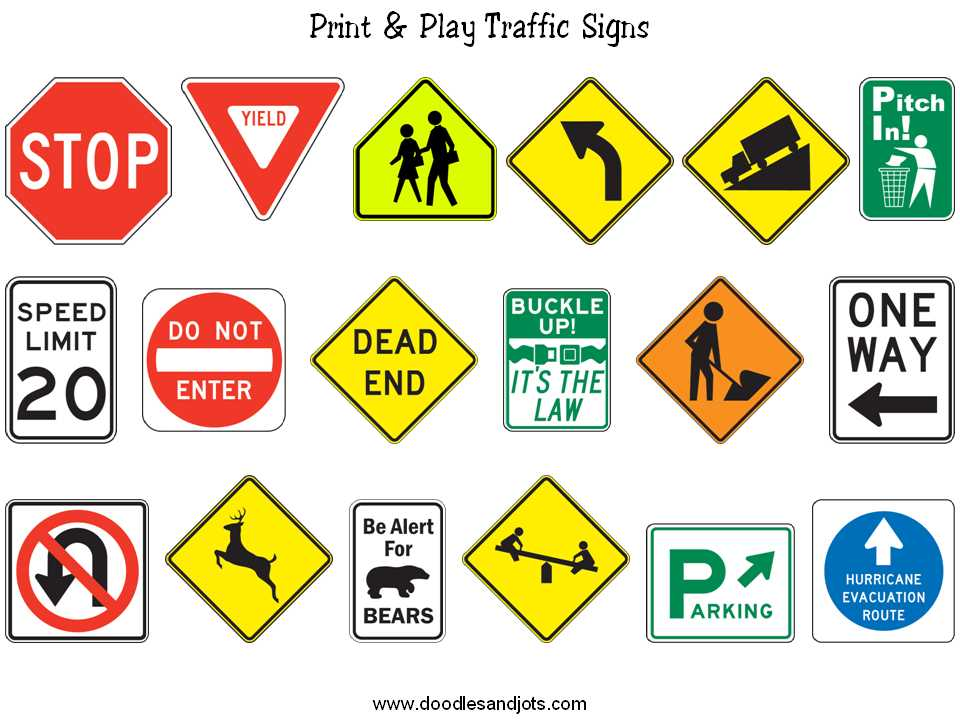 Survival Signs Worksheets or Traffic Signs are Important Visuals and Need to Be Learned In order