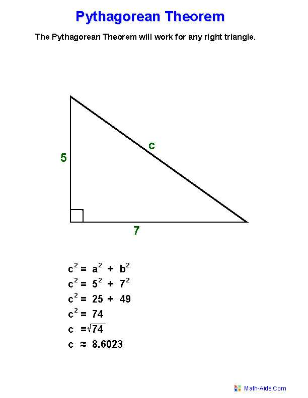 The Pythagorean theorem Worksheet Answers with Pythagorean theorem Worksheets