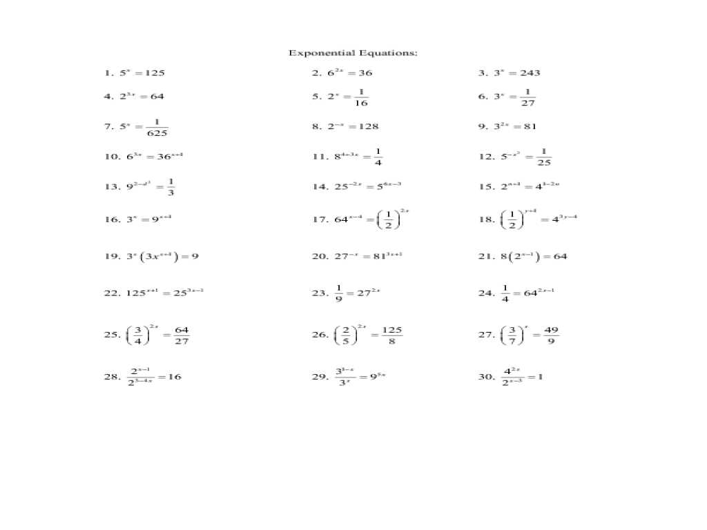 Transformations Of Quadratic Functions Worksheet Also Exponential Function Worksheet Worksheet Math for K