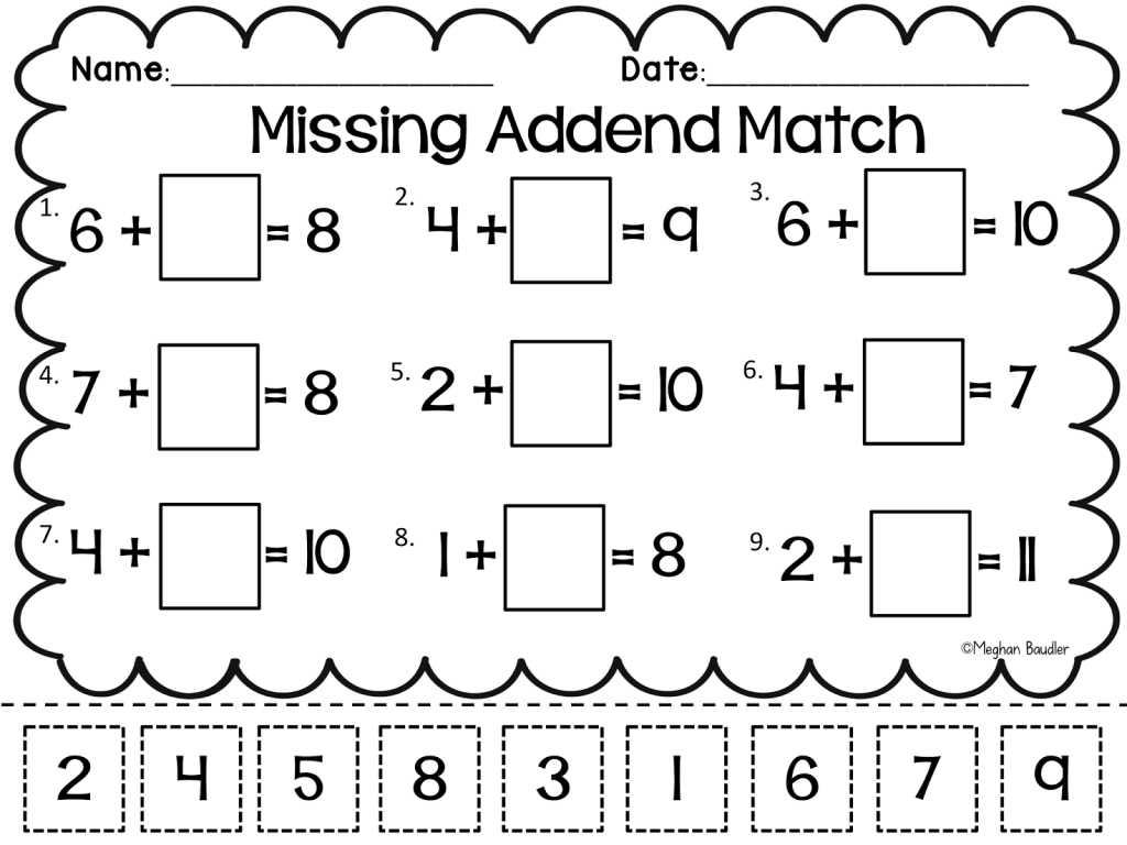 Transportation Worksheets for Preschoolers together with Grade Worksheet Missing Addend Worksheets First Grade Gras