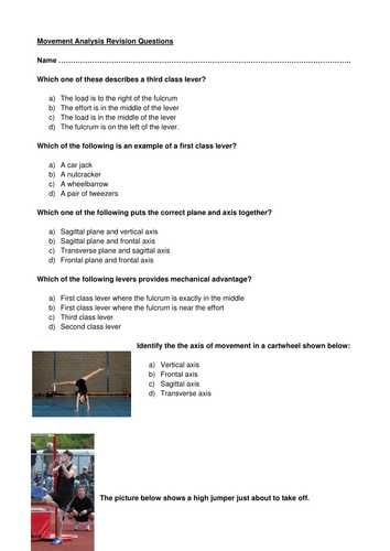 Types Of Levers Worksheet Answers as Well as Gcse Pe Levers and Movement by Helen tonks Teaching Resources Tes