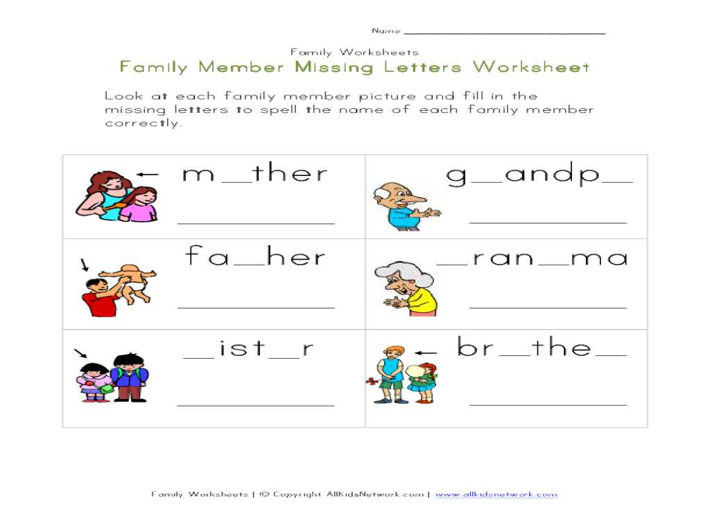 Verb to Be Worksheets for Adults Pdf with Chic Family Worksheets for Kindergarten Also Worksheet My Fa