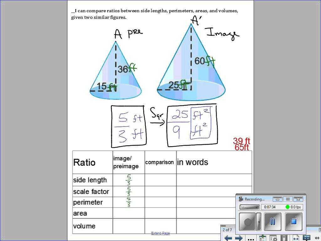 Volume Of A Cylinder Worksheet Pdf and 113 area and Volume Of Similar solids
