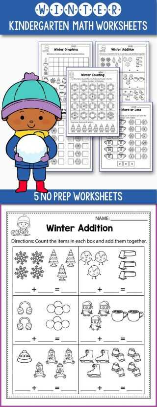 Winter Math Worksheets Along with First Grade Math Worksheets 1st Worksheet Maths for Class Addition