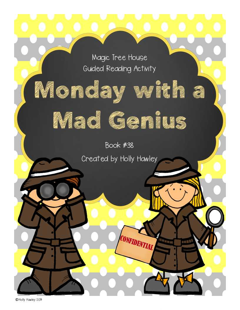 1st Grade Reading Comprehension Worksheets Multiple Choice as Well as Monday with A Mad Genius A Guided Reading Activity Lesson