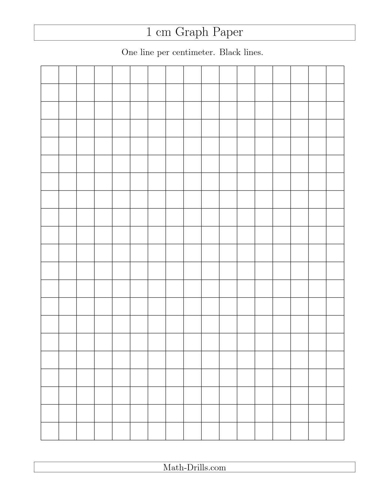 Analyzing Graphs Worksheet as Well as the 1 Cm Graph Paper with Black Lines A Math Worksheet From the