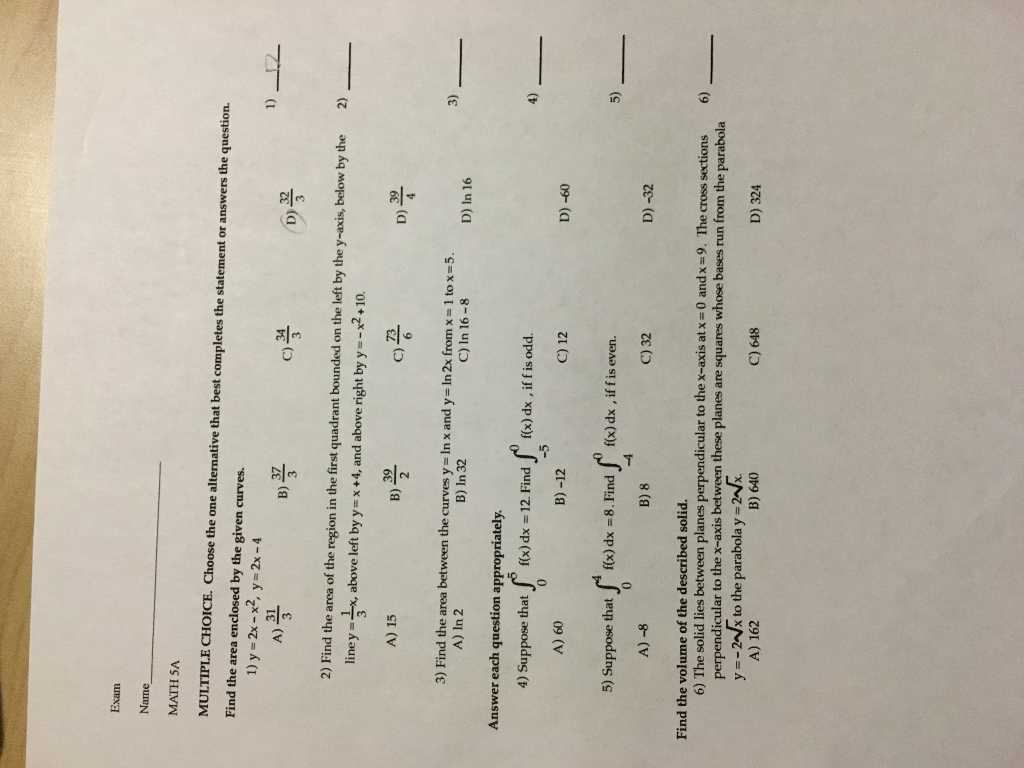 Bill Of Rights Scenarios Worksheet Answer Key or solved Exam Name Math 5a Multiple Choice Choose the E