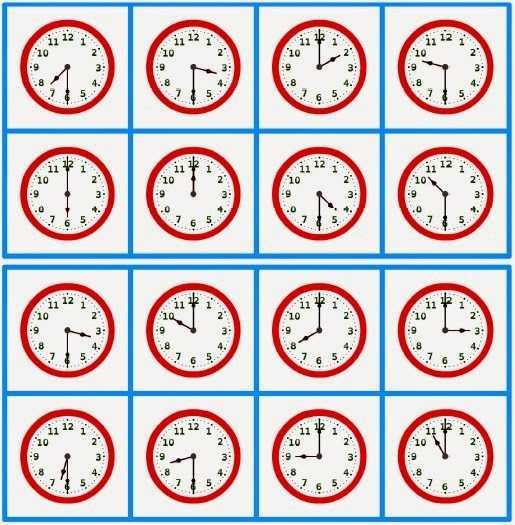 Clock Time Worksheets as Well as Warren Sparrow Clock Bingo