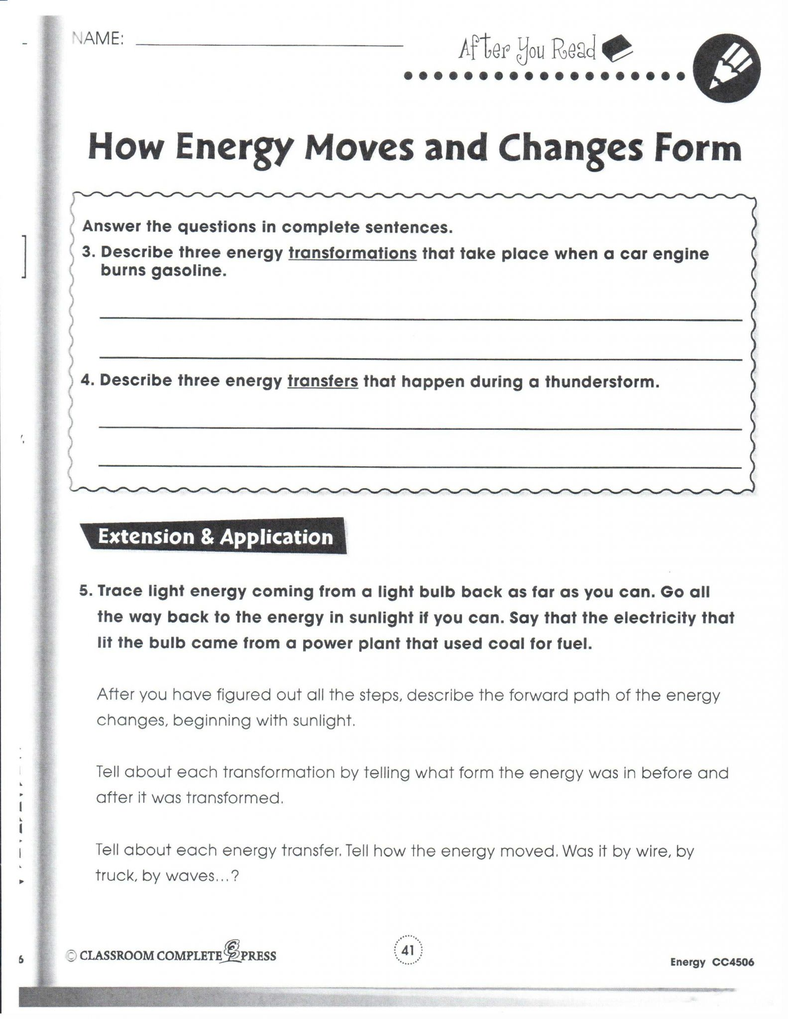 Energy Transformation Worksheet Answers Also Energy Transformation Worksheet Answers New Physical Science January