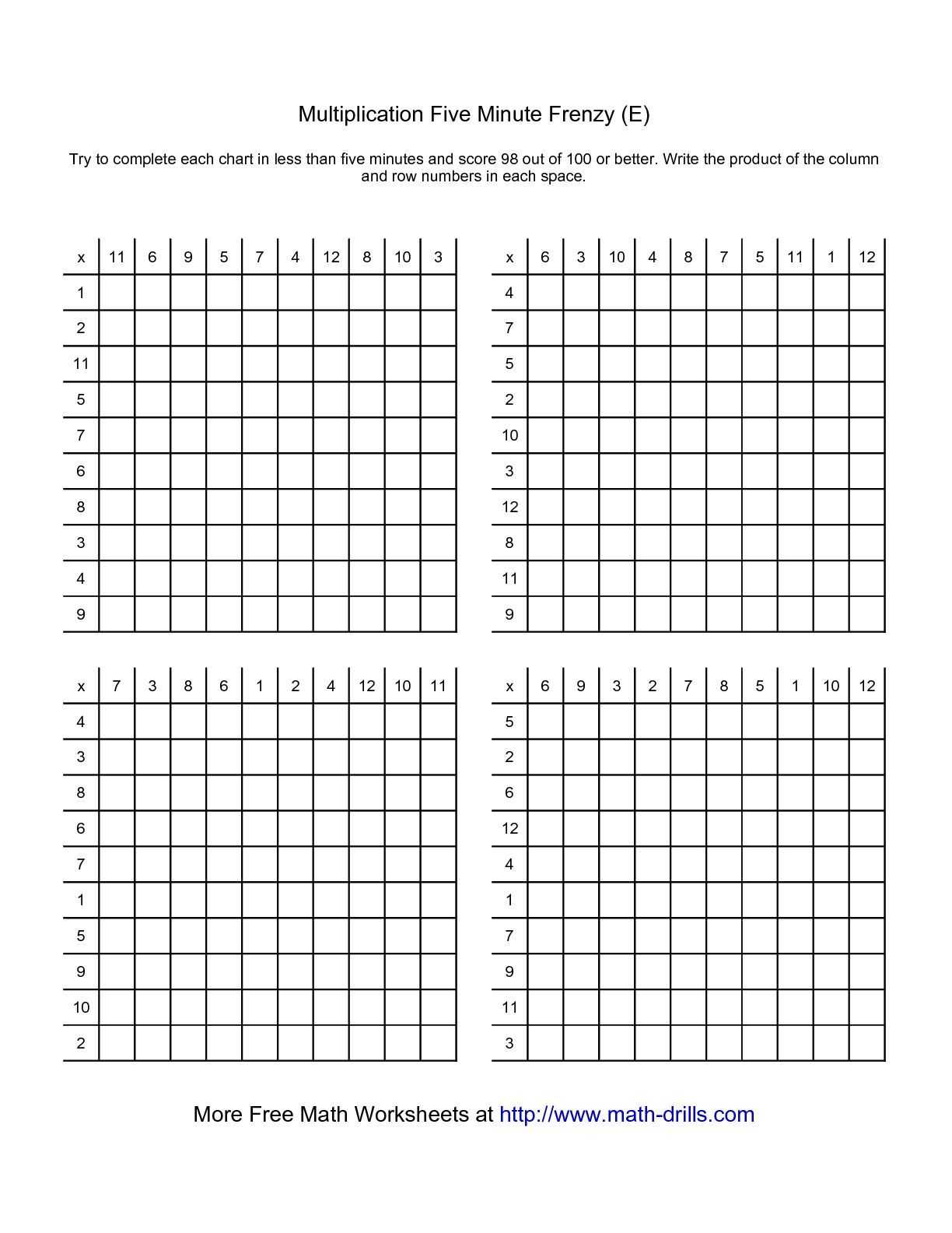Facts About Birds Worksheet and the Five Minute Frenzy Four Per Page E Math Worksheet From the
