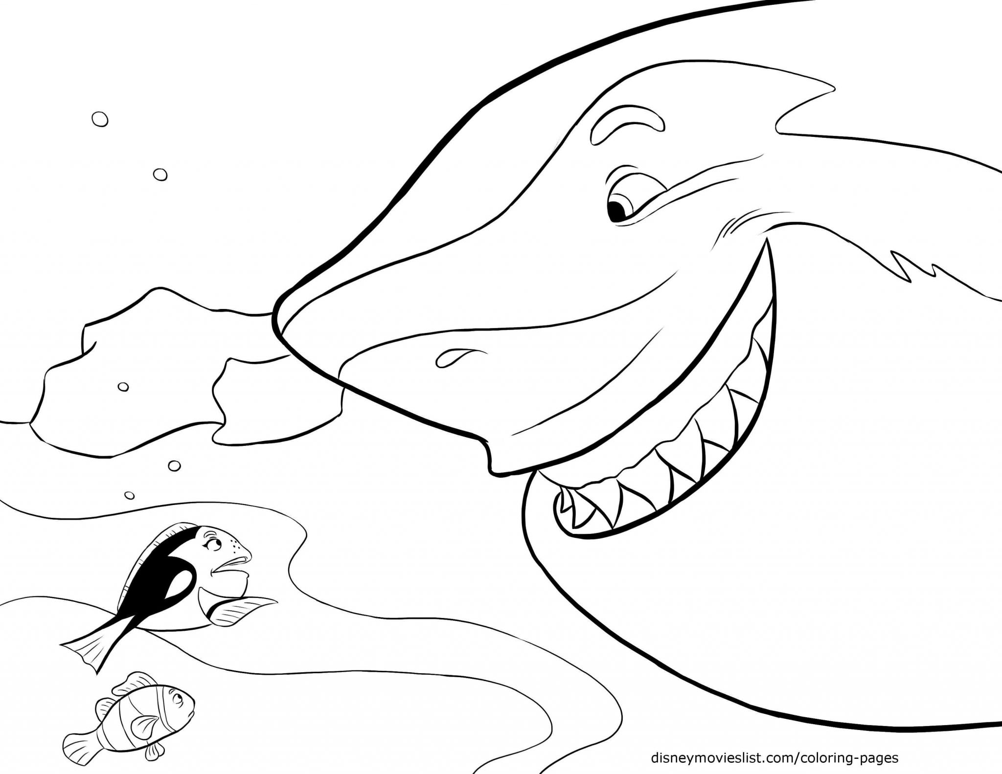 Finding Nemo Worksheet or Finding Dory Coloring Pages Printable at Getcolorings
