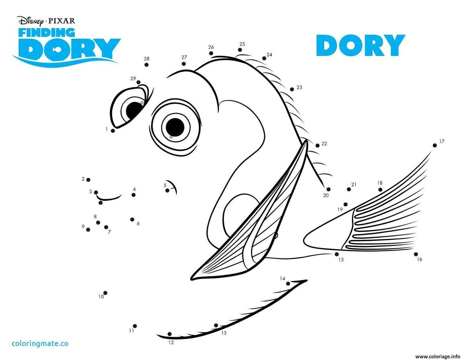 Finding Nemo Worksheet or Ungewöhnlich Coloriage Dory Poisson Chirurgie Bleu Bilder