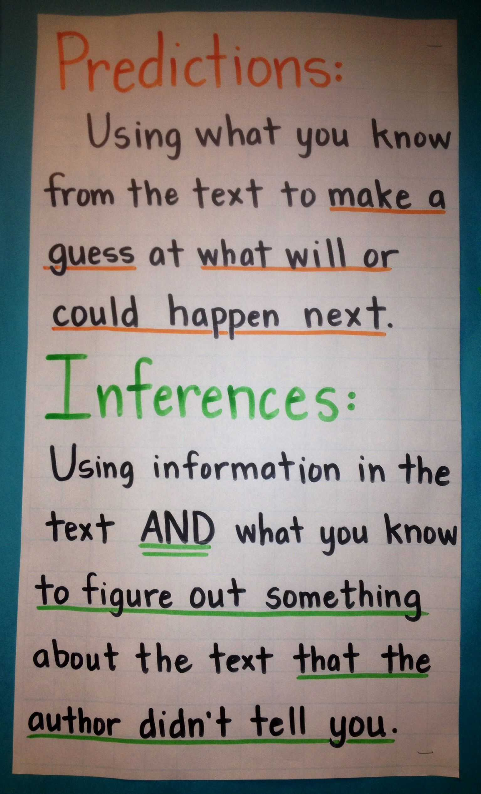 Inferences Worksheet 1 as Well as Predictions and Inferences Anchor Chart Fourth Grade